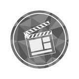 cinema clapboard icon Stock Photo