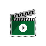Cinema clapboard isolated. Icon  illustration graphic design Royalty Free Stock Photography