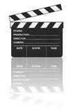 Cinema clapboard and reflection Stock Image
