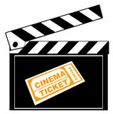 cinema clapboard ticket Στοκ Εικόνες