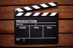 Cinema clapper board Stock Photos