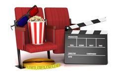 Cinema clapper board, Stock Image