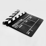 Cinema clapper board on white Royalty Free Stock Photography