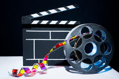 Cinema clapper Stock Photo