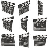 Cinema clapperboard 3D Royalty Free Stock Image