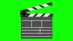 Cinema clapperboard. Filmmaking and video production device