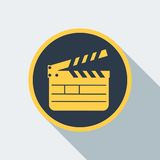 Cinema clipboard icon Royalty Free Stock Images