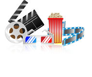 Cinema collection Royalty Free Stock Photography