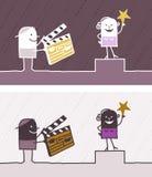 Cinema colored cartoon stock illustration
