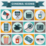 Cinema colorful icon set Royalty Free Stock Image