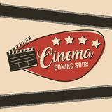 Cinema coming soon movie film clapper board. Vector illustration Stock Images