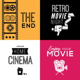 Cinema compositions with text Royalty Free Stock Images