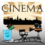 Cinema concept Royalty Free Stock Photos
