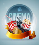 Cinema concept banner Stock Images