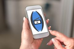 Free Cinema Concept On A Smartphone Royalty Free Stock Photography - 132154677