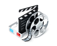 Cinema Concept Realistic Royalty Free Stock Images