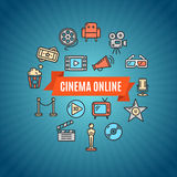 Cinema Concept. Vector Stock Photo