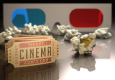Cinema 3D Fotografia de Stock Royalty Free
