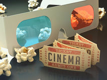 Cinema 3D Royalty Free Stock Images