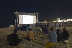 Cinema de la Plage Photo stock