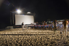 Cinema de la Plage Royalty Free Stock Photo