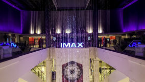 A cinema in a department store. A stylish and modern cinema Stock Images