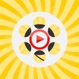 Cinema design - cinema player. Vector icon Stock Photo