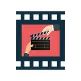 Cinema design. Cinema digital design, vector illustration 10 eps graphic Stock Photography