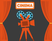 Cinema design Royalty Free Stock Image