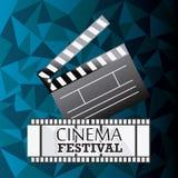 Cinema design. Cinema design over blue background,  illustration Royalty Free Stock Photography