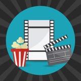 Cinema design. Cinema design over gray background,  illustration Royalty Free Stock Image
