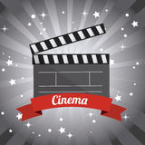 Cinema design. Cinema design over gray background,  illustration Stock Photography