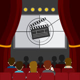Cinema design. Cinema design over red background,  illustration Stock Photo
