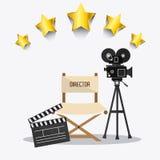Cinema design. Cinema design over white background,  illustration Royalty Free Stock Photography