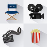 Cinema design. Cinema design over white background,  illustration Stock Image