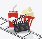 Cinema design. Cinema design over white background,  illustration Stock Photos