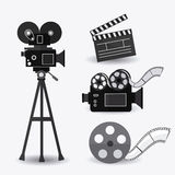 Cinema design. Cinema design over white background,  illustration Royalty Free Stock Images