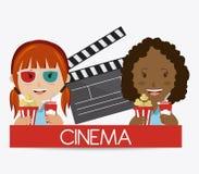 Cinema design. Cinema design over white background,  illustration Royalty Free Stock Photos