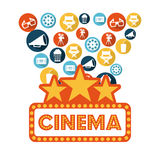 Cinema design Royalty Free Stock Photo