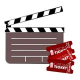 Cinema design two movie tickets Stock Photography