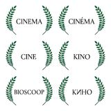 Cinema  in Different Languages 1 Royalty Free Stock Images