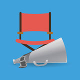 Cinema director and megaphone movie Stock Images