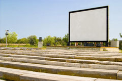 Cinema display outdoors Royalty Free Stock Photography