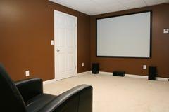 Cinema domestico immagini stock