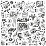 Cinema doodles Royalty Free Stock Photos