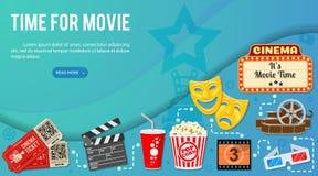 Cinema e bandeira do filme ilustração stock