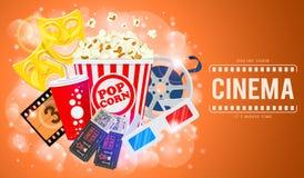 Cinema ed insegna di film Fotografie Stock