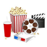 Cinema Elements. Illustration of different colorful  Cinema Elements Stock Photos