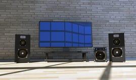 Cinema em casa Foto de Stock