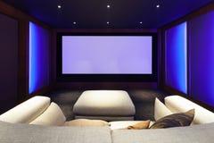 Cinema em casa, interior luxuoso fotografia de stock